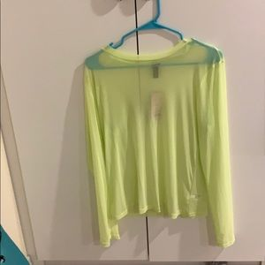 Neon green see through top